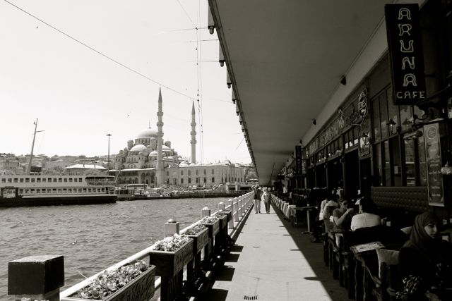 Galata Bridge Black and White photos