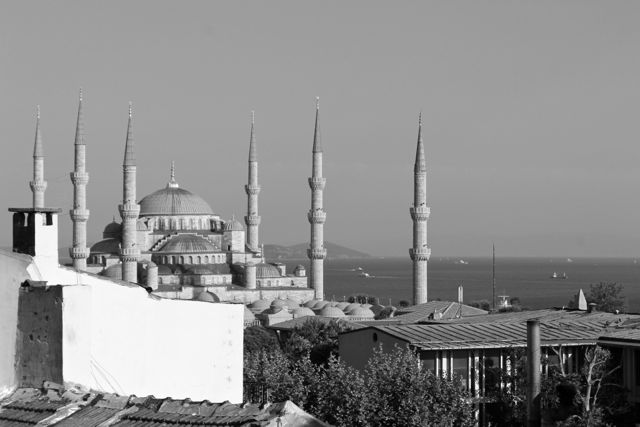 Blue Mosque Black and White photos