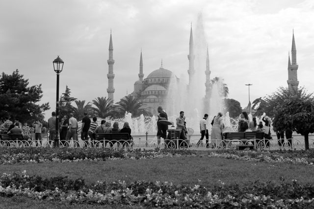 Istanbul Blue Mosque Black and White photos
