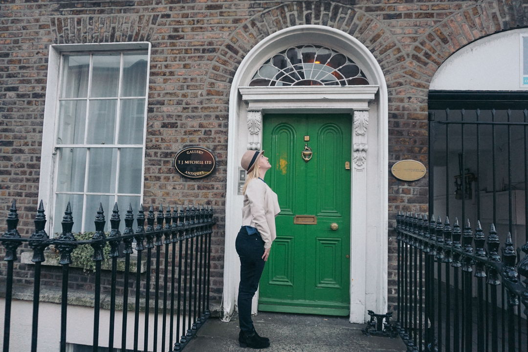 Dublin green door
