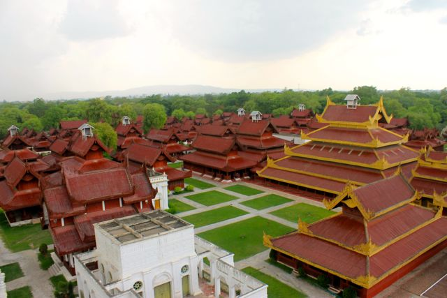 royal palace of mandalay, burma