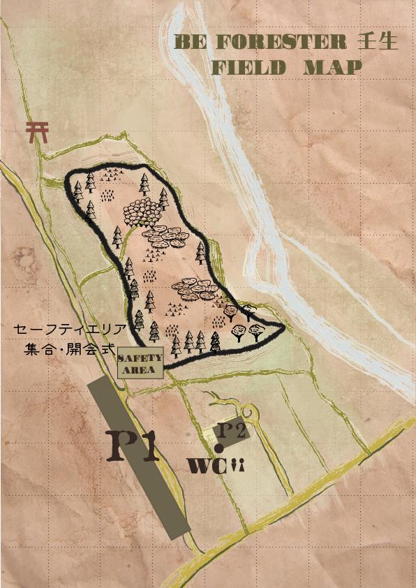 Beforester 壬生のフィールドマップ