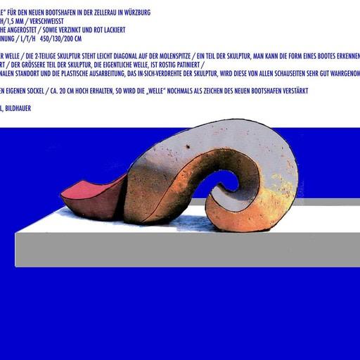 Wettbewerbsarbeit: Skulptur für den neuen Bootshafen der Feuerwehrschule in Würzburg
