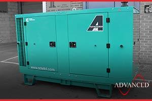 silent diesel generator on a van