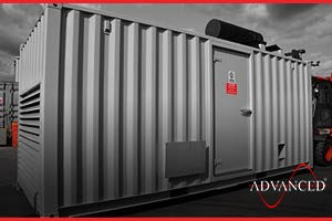 acoustic container to house a diesel generator