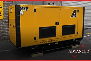 100 kVA Caterpillar Diesel Generator being loaded