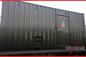 soundproofed diesel generator box