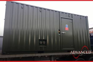 diesel generator enclosure treated for sound