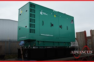 A diesel generator providing back up power for a uk university