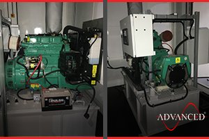 diesel generator secure housing
