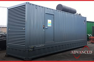 A Diesel Generator in an acoustic building for a waste management company in Hull