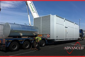 deloivery of a diesel generator acoustic enclosure bound for a uk data centre