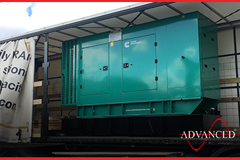 220 kVA Cummins Diesel Generatror on transport