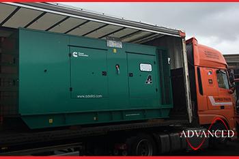 diesel generator on a truck
