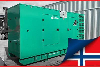 330 kVA CUmmins Diesel Generator loaded onto transport for shipping to Norway