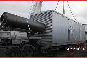 inside a diesel generator acoutic enclosure