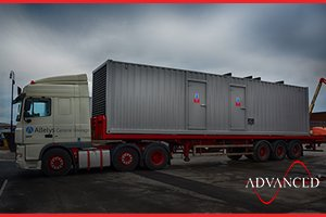 diesel generator acoustic container on transport