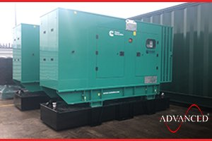 2 Cummins 220 kVA Diesel Generators with Bespoke Extended Base Fuel Tanks