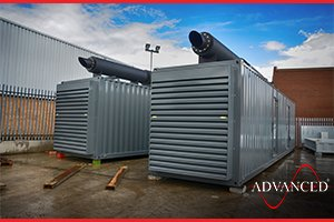 2 1500 kVA Diesel Generators in Bespoke Acoustic Enclosures