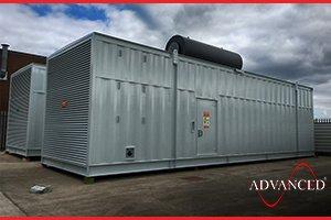 2 Cummins 3000 kVA Diesel Generators in Bespoke Acoustic Enclosures