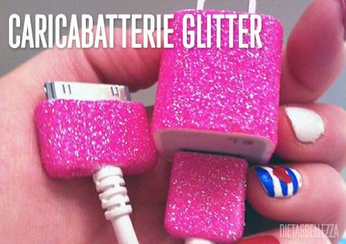 Caricabatterie Glitter Fai Da Te