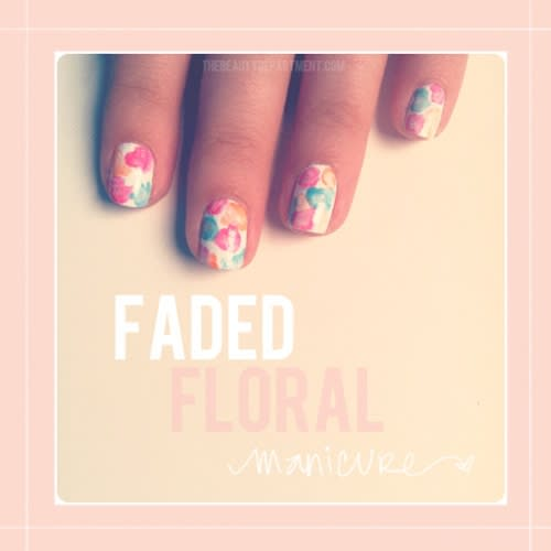 Tutorial Nail Art: Manicure Florale in Stile Acquarello