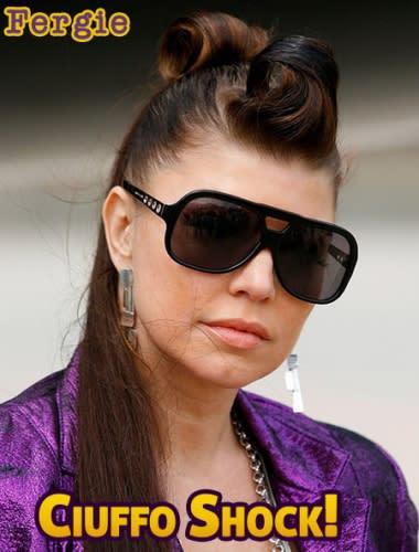 Fergie, Ciuffo Shock per la Cantante dei Black Eyed Peas