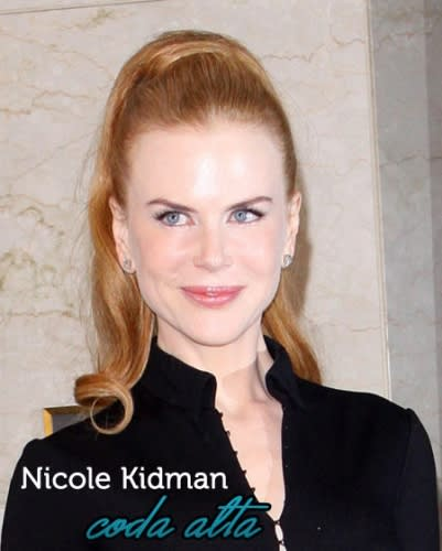 Acconciature delle Star: la Coda Alta Chic di Nicole Kidman