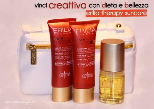 Vinci il Kit per Capelli Erilia Therapy Suncare by Creattiva con Dieta e Bellezza