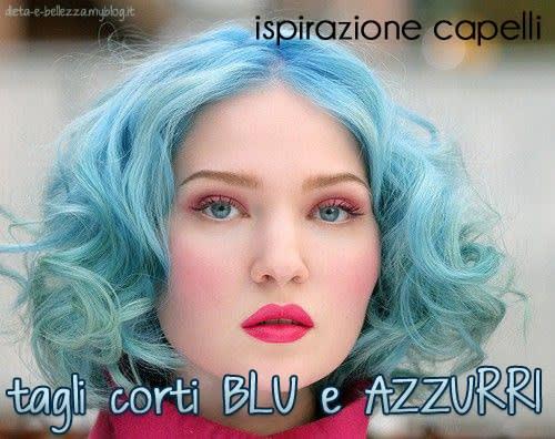 Ispirazione Capelli: Tagli di Capelli Corti Azzurri e Blu