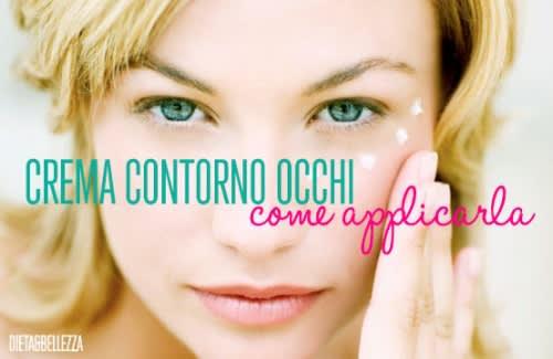 Come Applicare la Crema Contorno Occhi