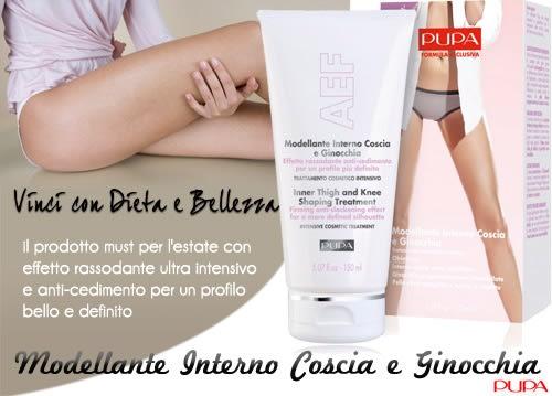 Vinci la Crema Modellante Interno Coscia e Ginocchia by Pupa con Dieta e Bellezza