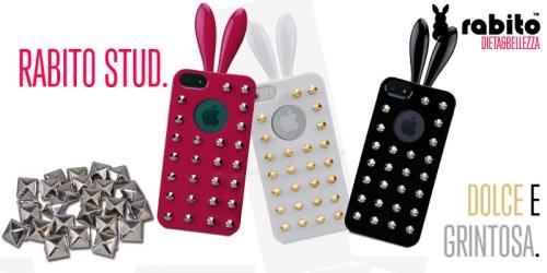 Rabito Stud, la Cover per iPhone con le Orecchie e le Borchie