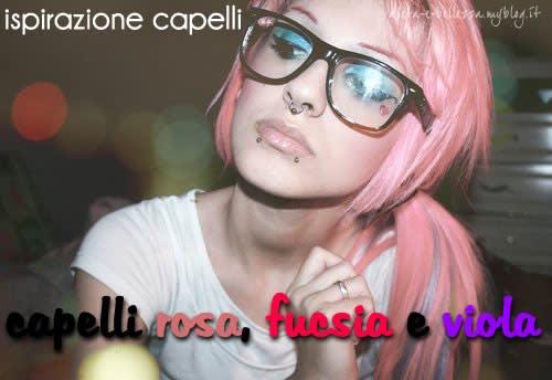 Ispirazione Capelli: Tinte Rosa, Fucsia e Viola per Chiome Girly