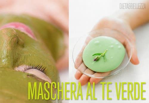 Maschera Viso al Tè Verde Purificante e Decongestionante