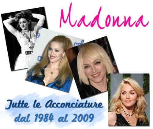 I Capelli di Madonna: Tutte le Acconciature più Hot della Regina del Pop