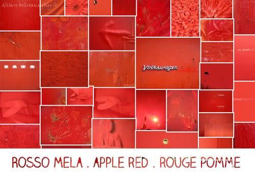 Sunday Colours: Colore Rosso Mela e Canzone Rossa Mela della Sera