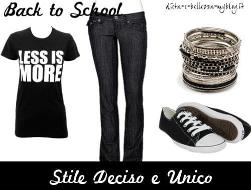 Look da scuola: stile Deciso e Unico