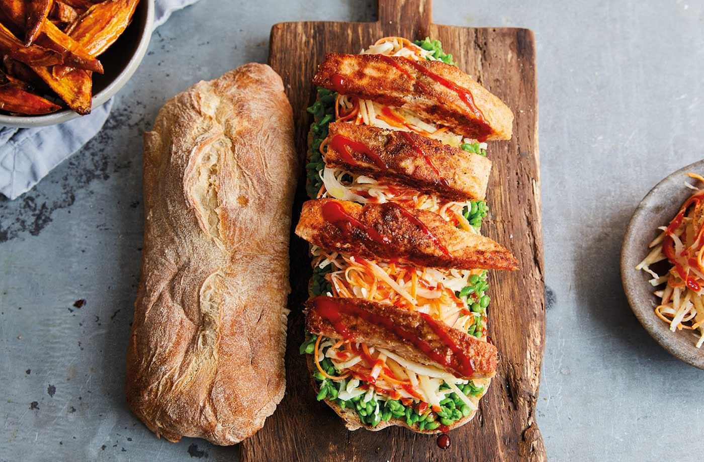 Non-vegetarian - Fish finger sarnie recipe for healthy diet plan