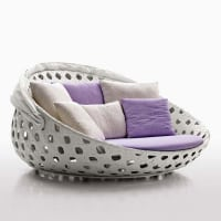 Canasta loveseat (outdoor) by B&B Italia