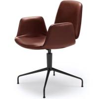 Tilda armchair (star base) by freifrau