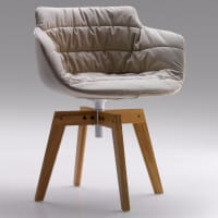 Flow Armchair (oak) by mdf italia
