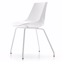 Flow Chair (4 legs) by mdf italia