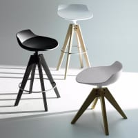 Flow Stool (VN oak base) by mdf italia