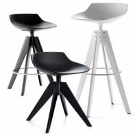 Flow Stool (steel base) by mdf italia