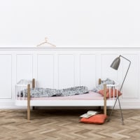 Wood bed by oliver furniture