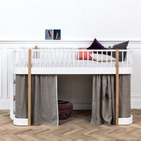 Low Loft Bed Wood by oliver furniture