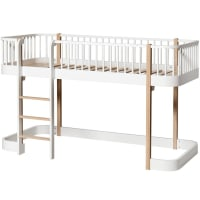 Low Loft Bed Wood (ladder in front) by oliver furniture