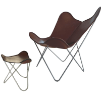 Hardoy - Original chair with footrest by Weinbaum