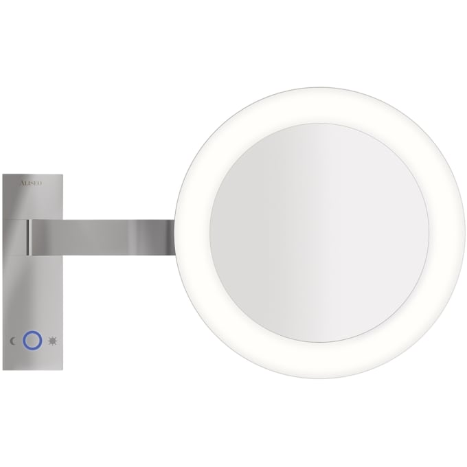 led moon dance kosmetikspiegel wandmontage von aliseo. Black Bedroom Furniture Sets. Home Design Ideas